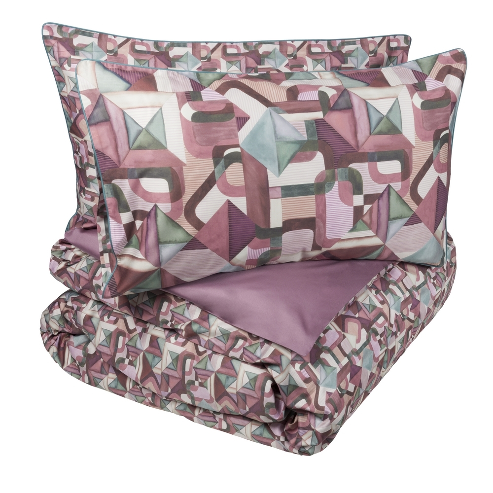 COLLAGE Duvet cover set-IT QUEEN-PINK