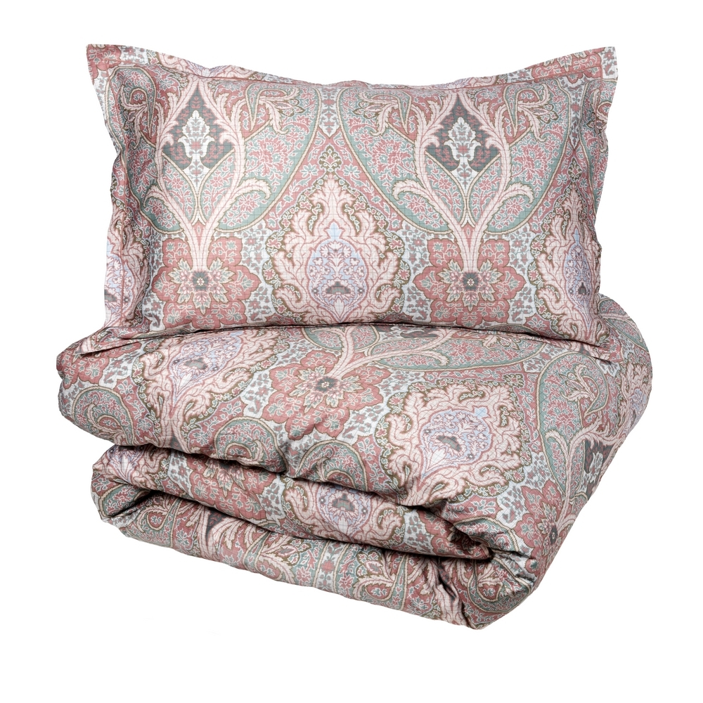 PAISLEY Duvet cover set-IT QUEEN-PINK