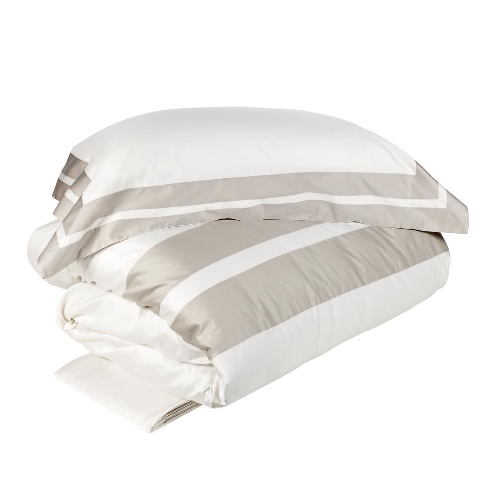 ARPA Duvet cover set -IT Double-WHITE SILK / GREY