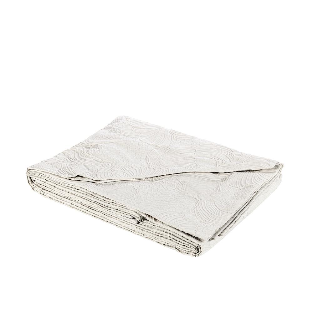 CAPELVENERE Bedspread - 270x270 - WHITE SILK