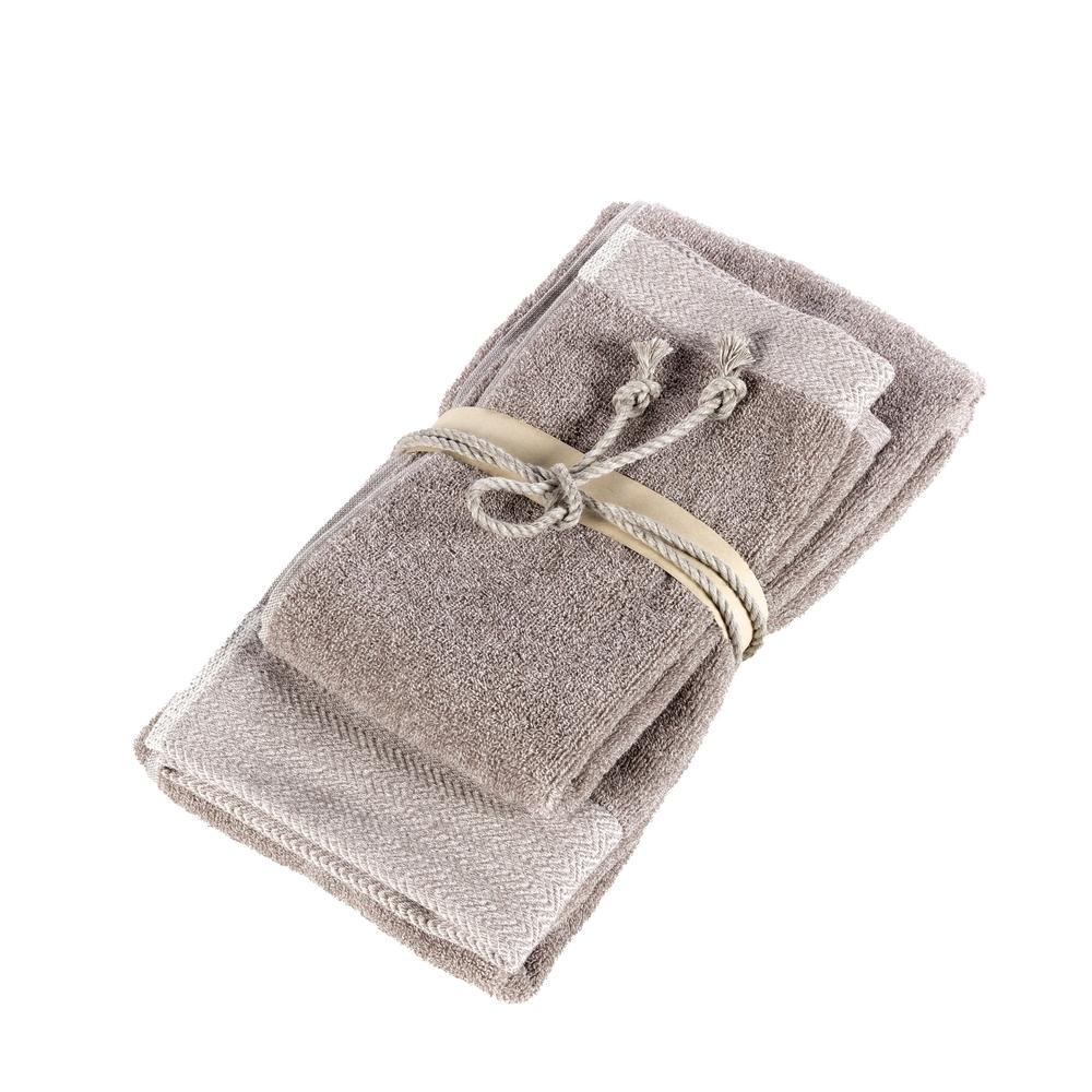 SALE E PEPE set of 2 towel-38x50+50x110-natural