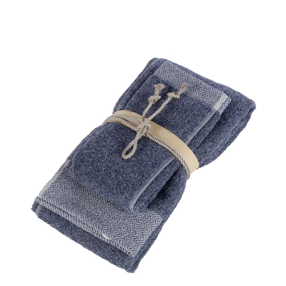 SALE E PEPE set of 2 towel-38x50+50x110-blue