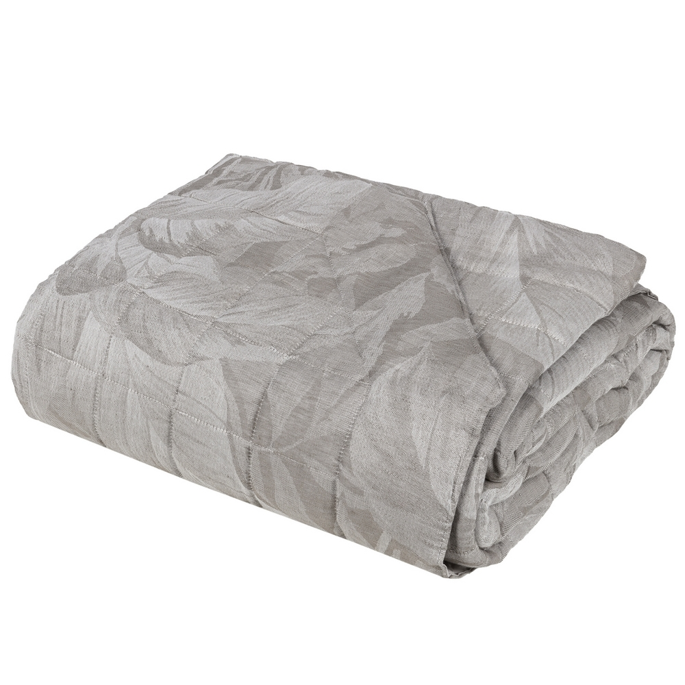 FOLIAGE Quilted bedspread - IT QUEEN - beige