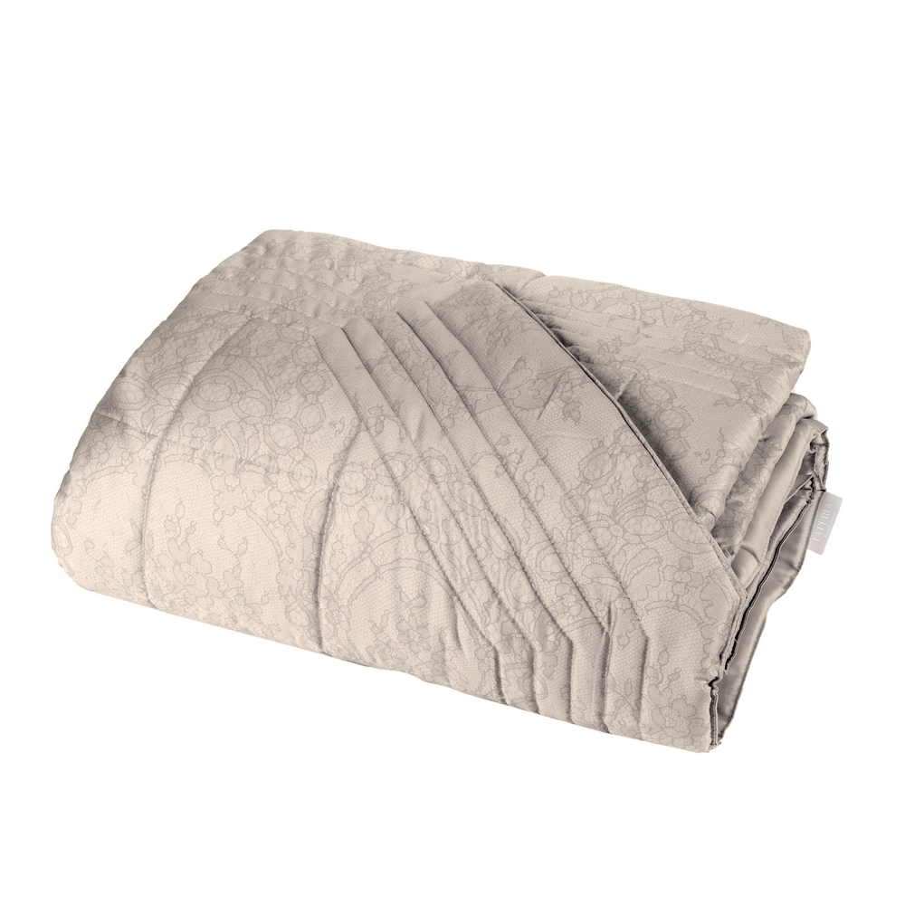 Quilted bedspread VIRGINIA 270x270 cm- NOUGAT