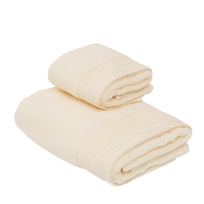 Ospite+Asciugamano NERVURES-AVORIO