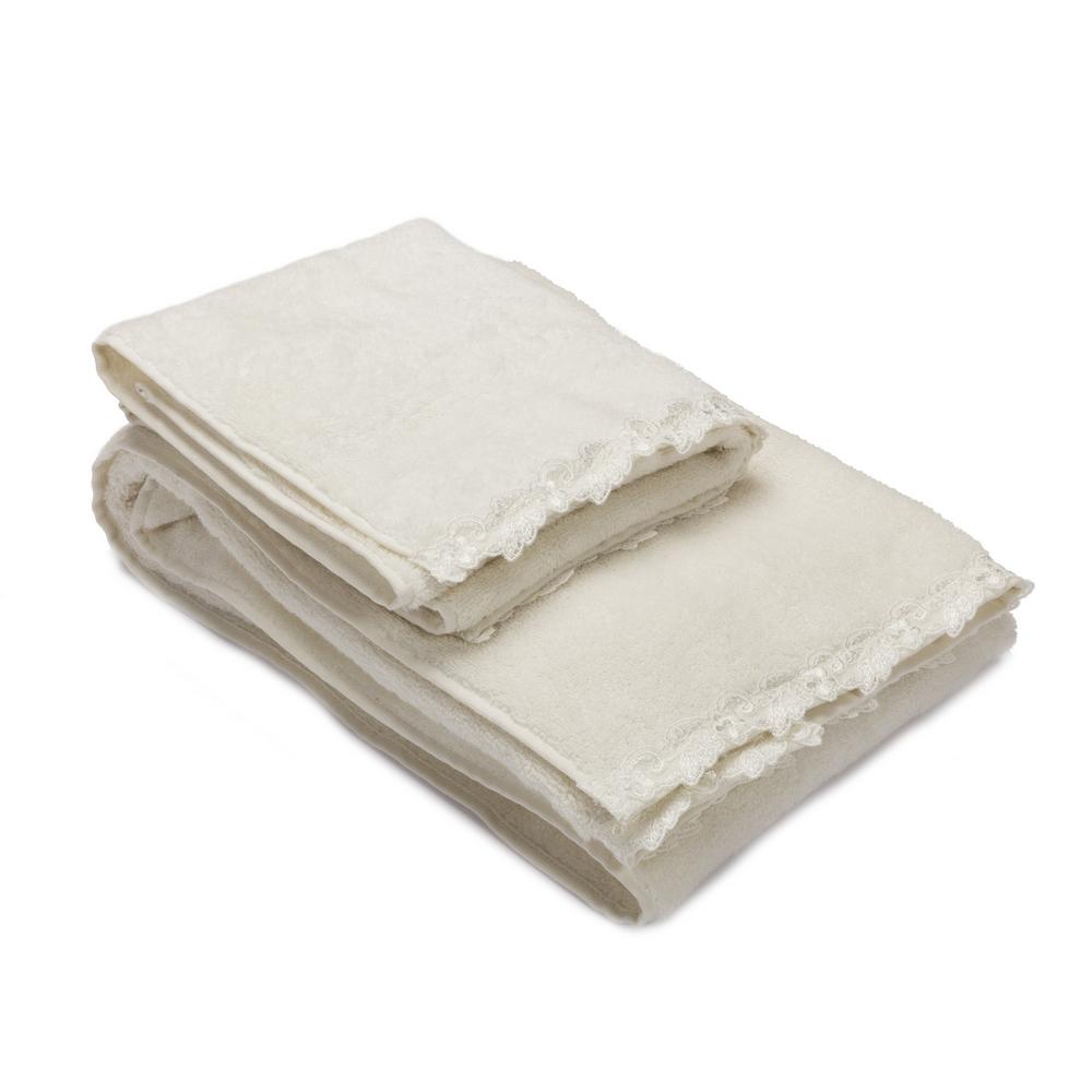 PETIT MAISON SET Towel 40x60 cm+60x110 cm-WHITE