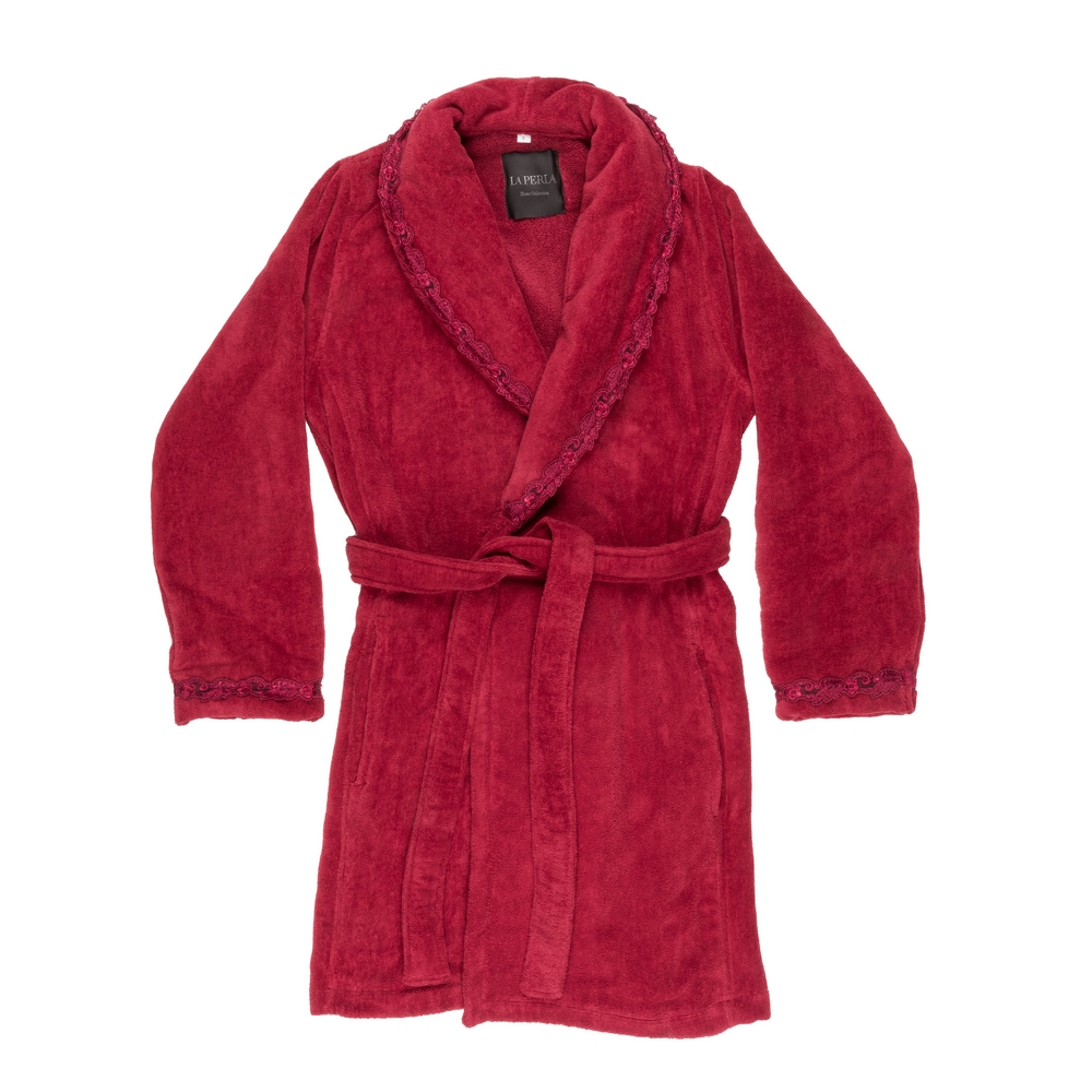 PETIT MAISON BATHROBE-L-BORDEAUX+BORDEAUX