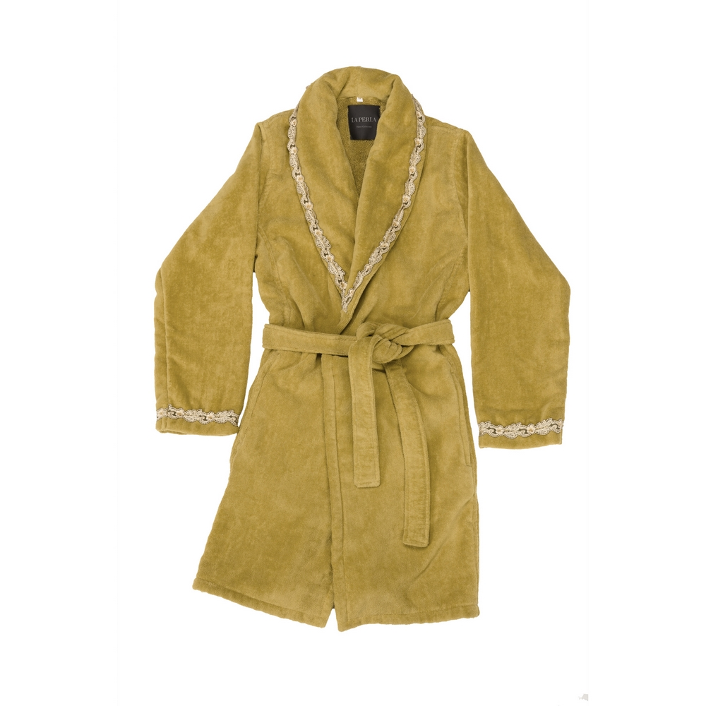PETIT MAISON BATHROBE-S -GOLD+BLACK SAND