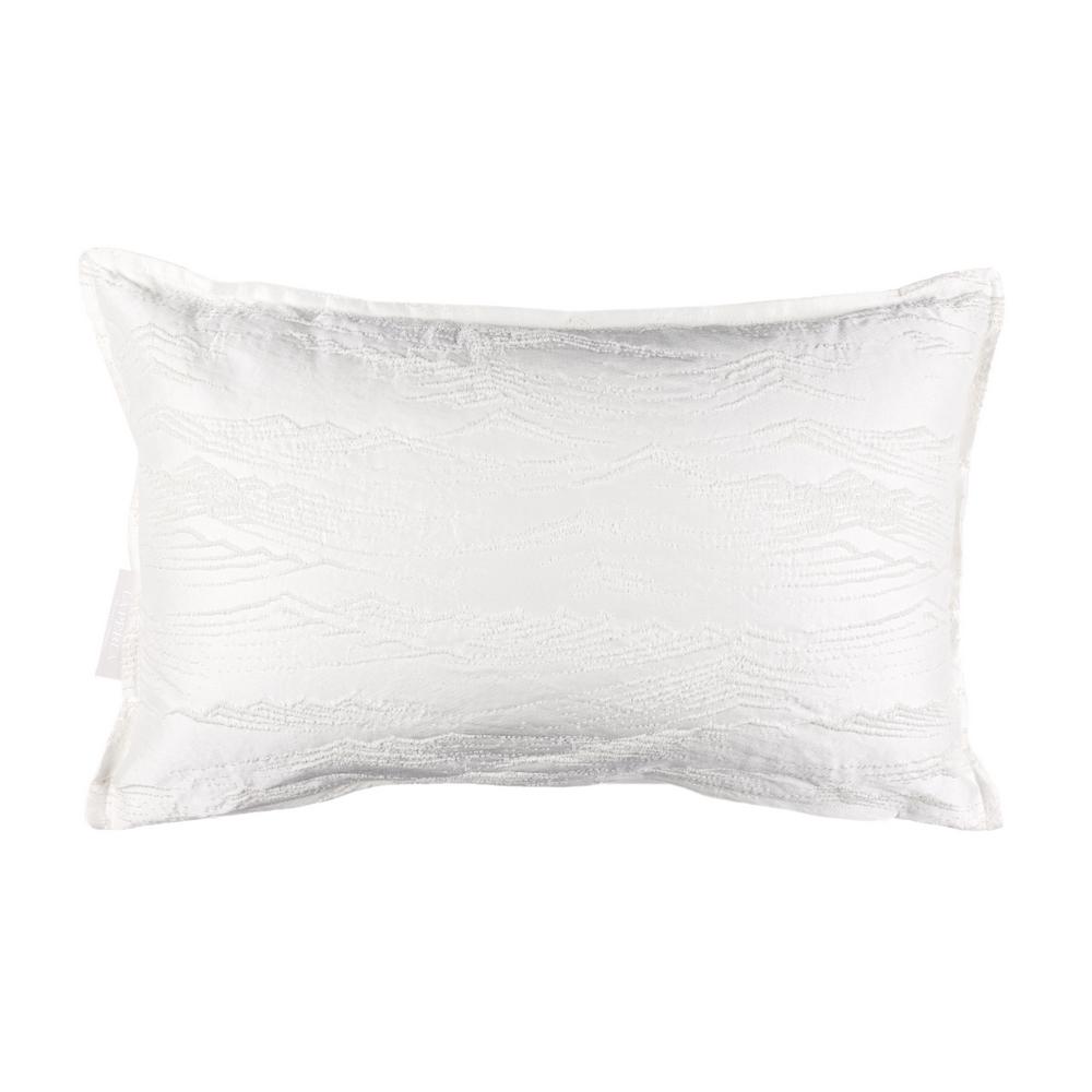 RILIEVI CUSHION 30x50 cm - WHITE SILK