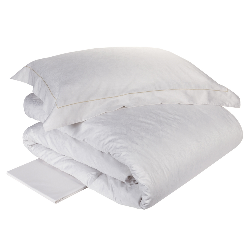 Duvet cover set RACHELE - Queen- WHITE SILK
