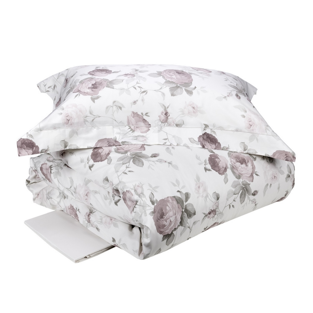 Duvet cover set CLAIRE -IT DOUBLE white silk