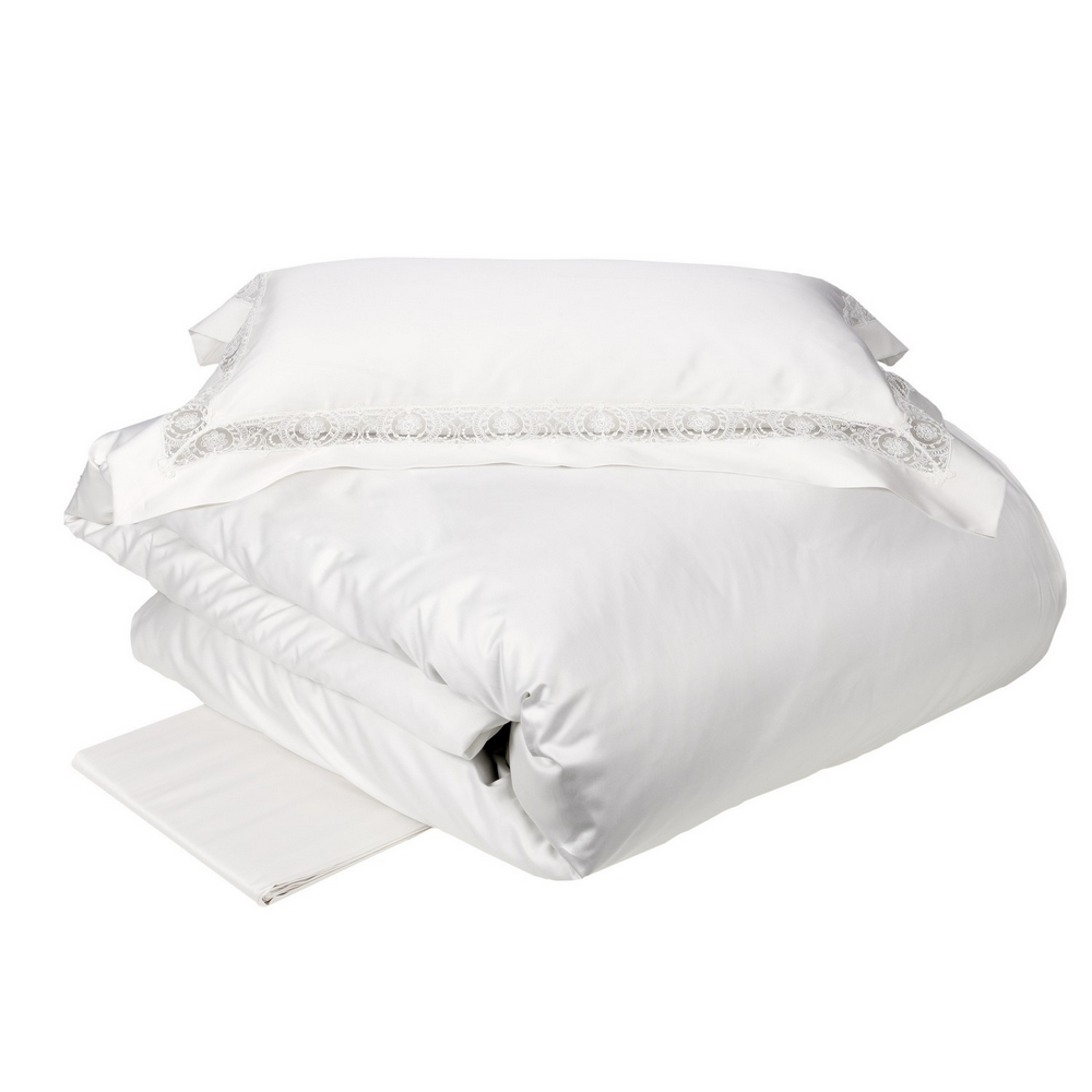 Duvet cover SFILATA -IT DOUBLE -white silk