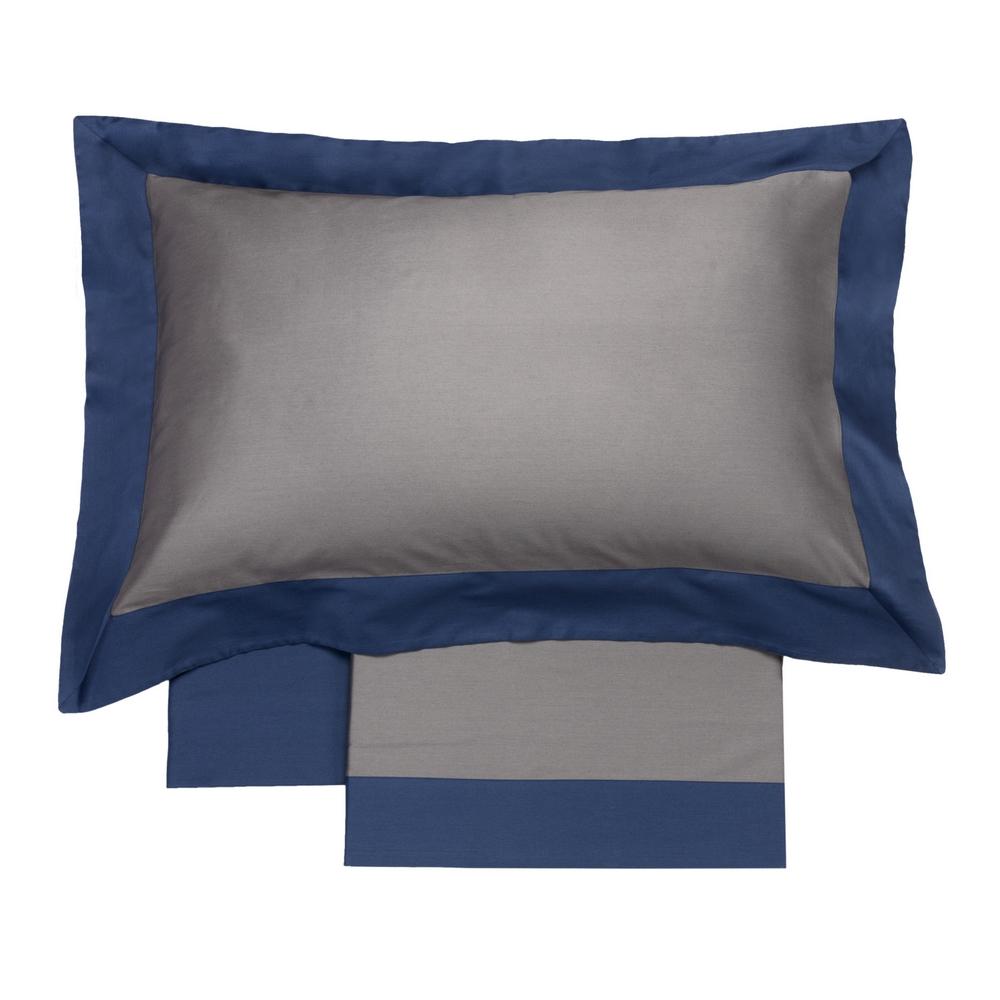 Sheet set ZAFFIRO-Queen-LONDON GRAY + BLUE