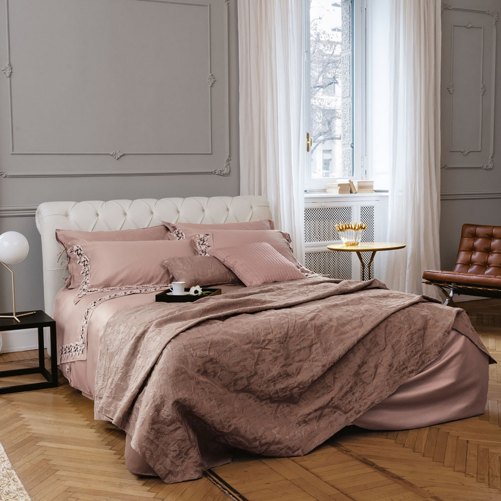 Bedding Set ICON Queen WHITE SILK