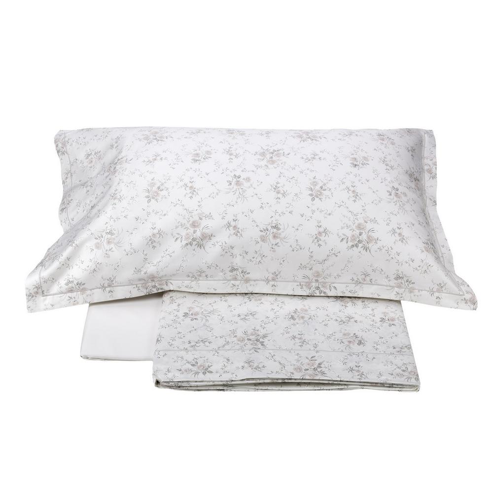 Bedding set LIMOGES- IT DOUBLE- white silk