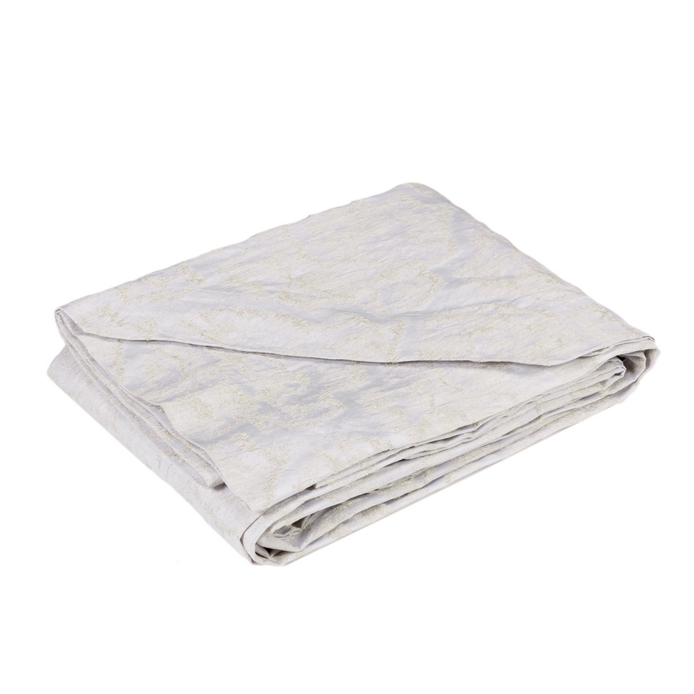 GIADA BEDSPREAD Queen-WHITE SILK