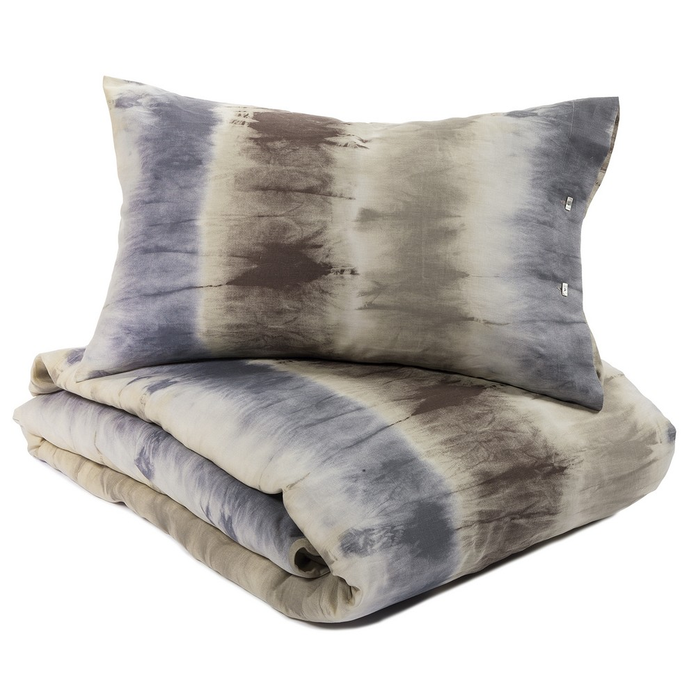 Duvet cover set TIE AND DYE - beige