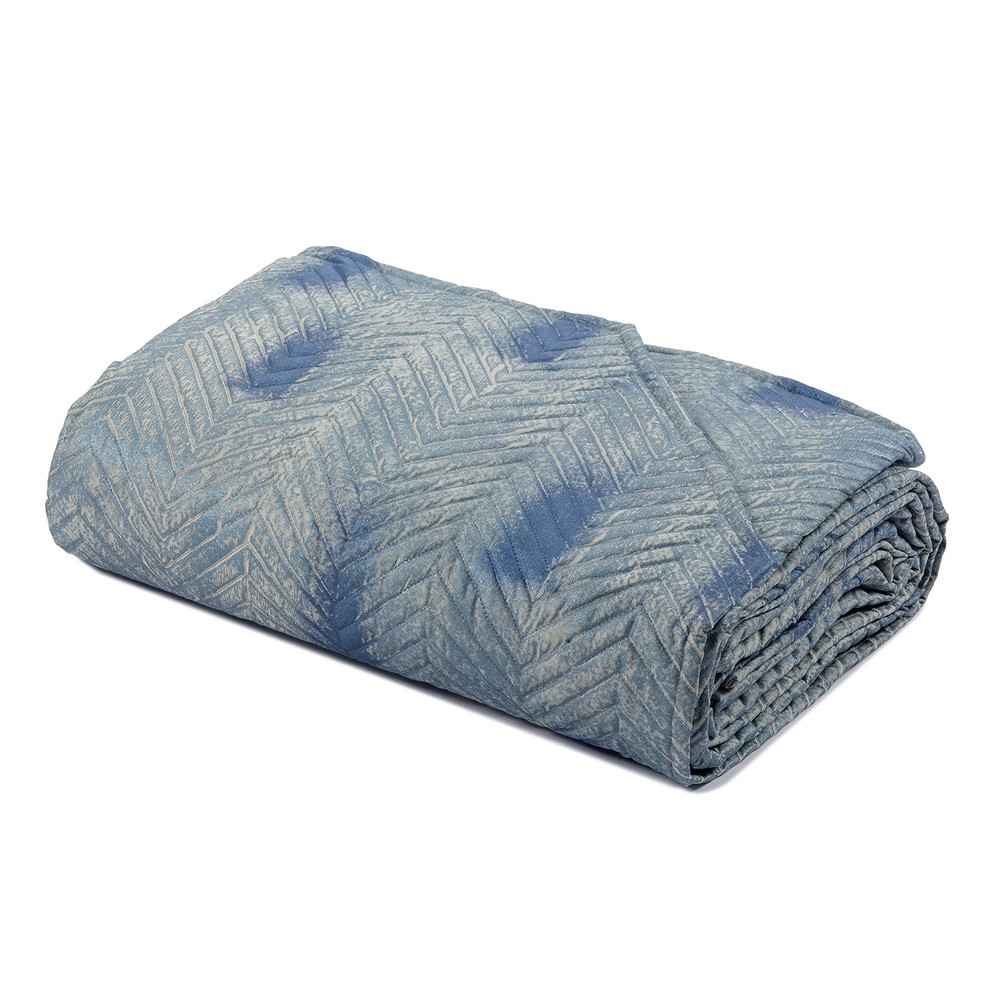Quilted bedspread SKILL - blue