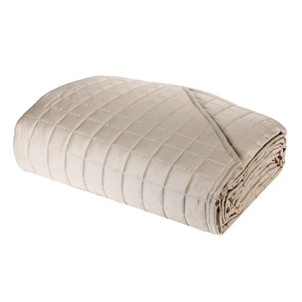 Quilted bedspread TRECENTO-270X270-beige