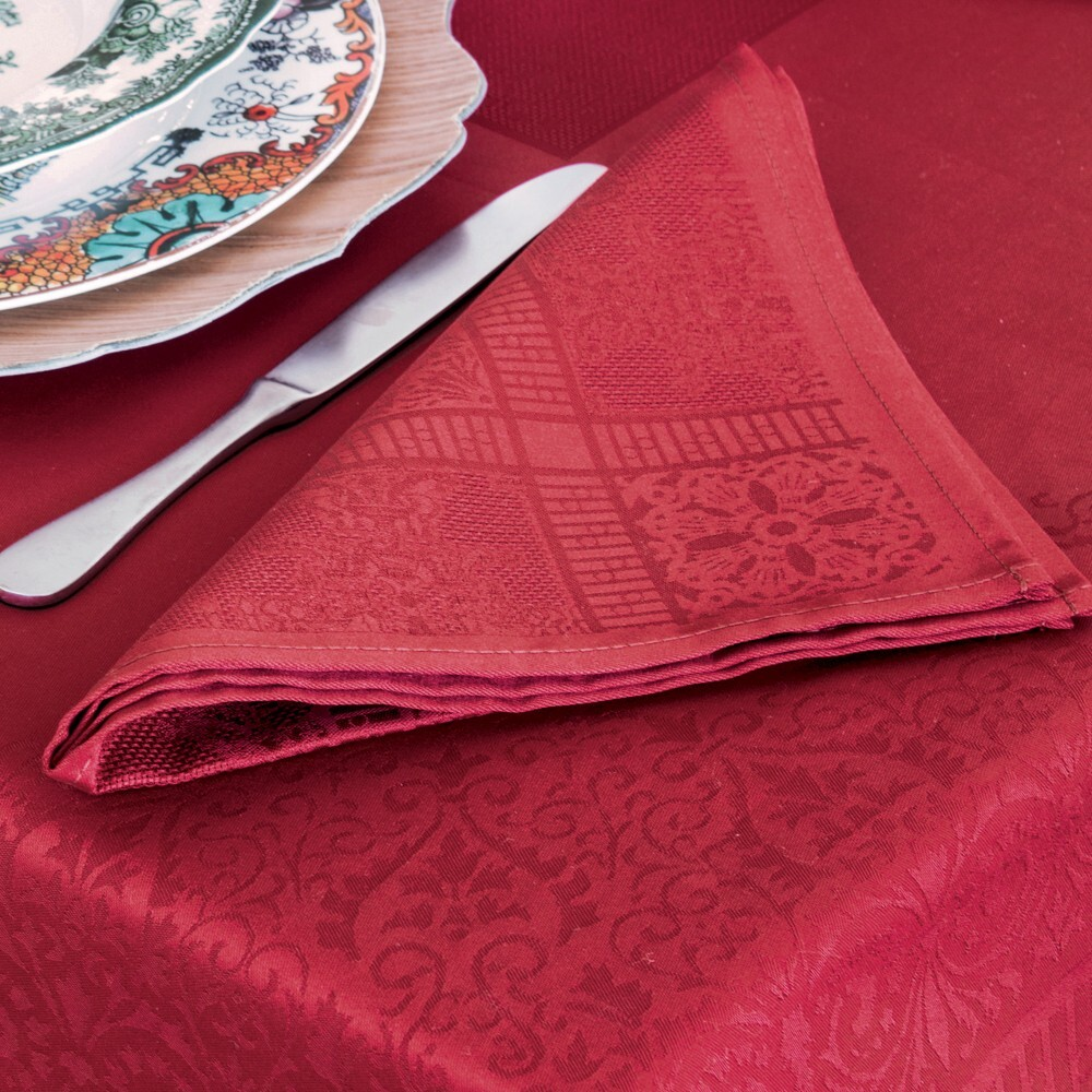 AUBERGINE Set of 4 napkins 47x47 SASSO