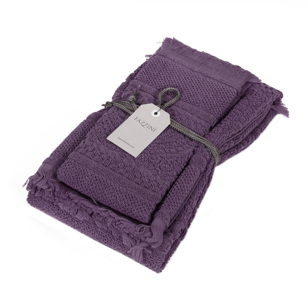 DAFNE Guest and hand towel set (1+1) MELANZANA