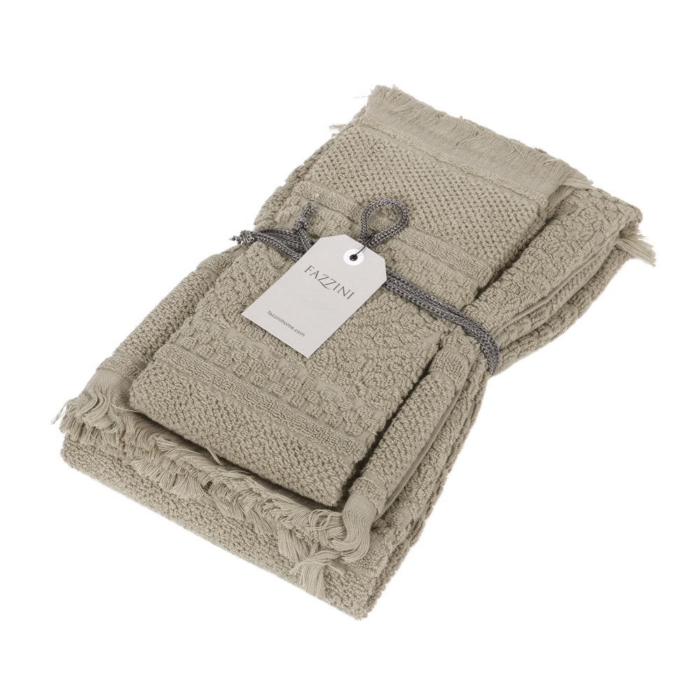 DAFNE Guest and hand towel set (1+1) CORDA