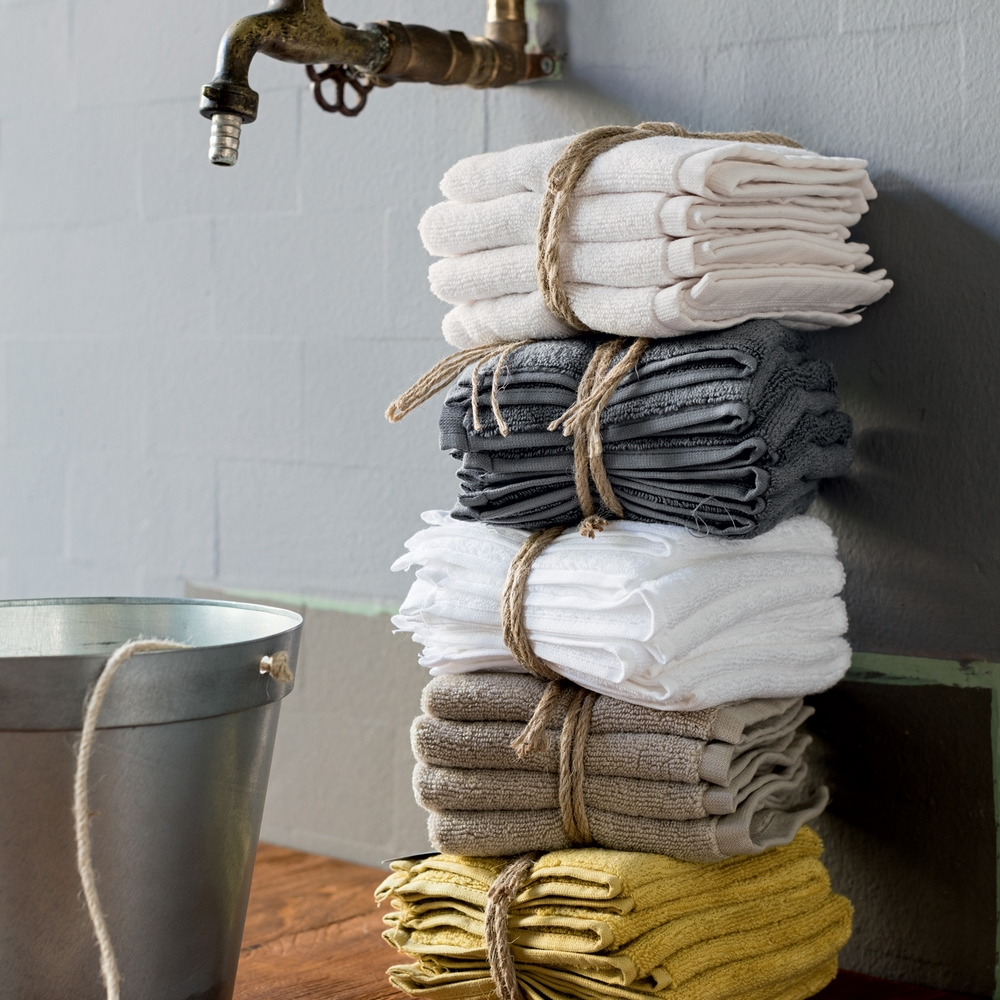 Snuggle set 4 washcloths -30x30-LIGHT MUSTARD