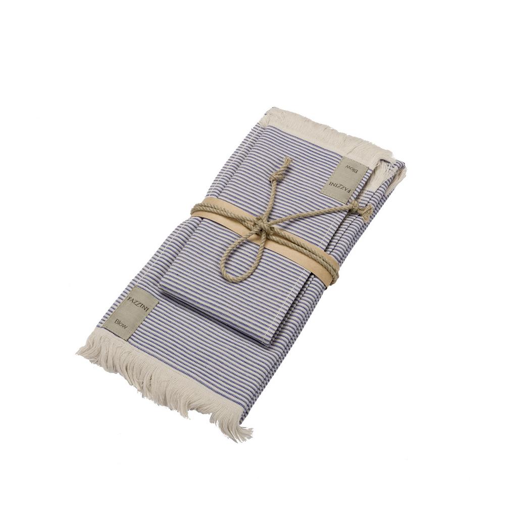 Guest + hand towel STRIPES 38x50 + 50x110 - BLUE