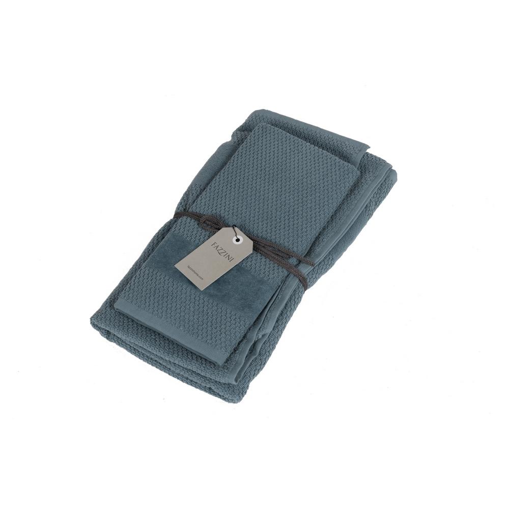 VELOUR Set of 2 towel 40x60 cm 60x110 cm -blue