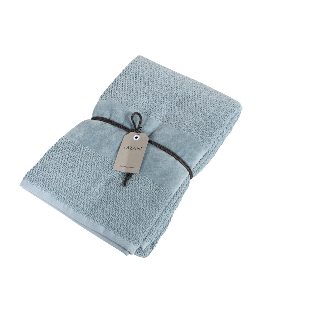 VELOUR Bathsheet 100x150 cm - light blue