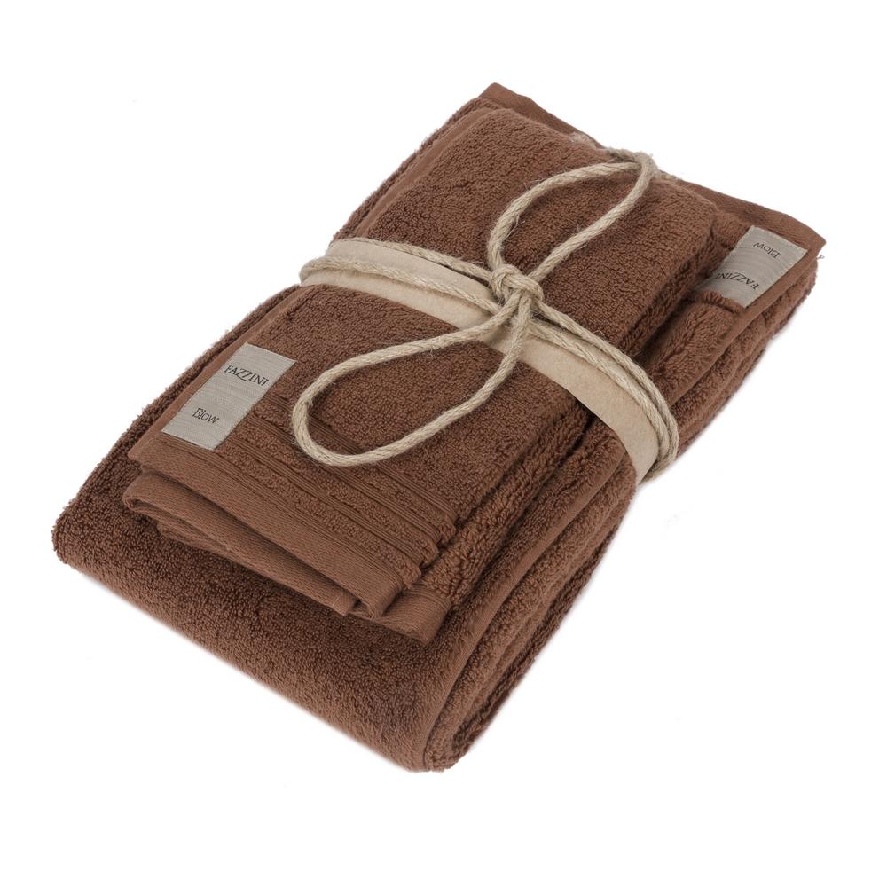 COCCOLA Guest and hand towel set (1+1) - Cognac