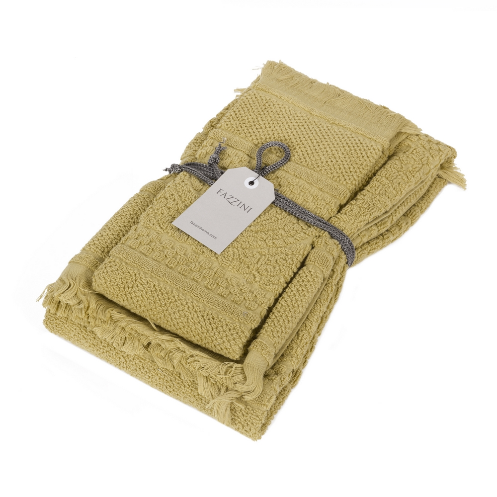 DAFNE Guest and hand towel set (1+1) - Mustard