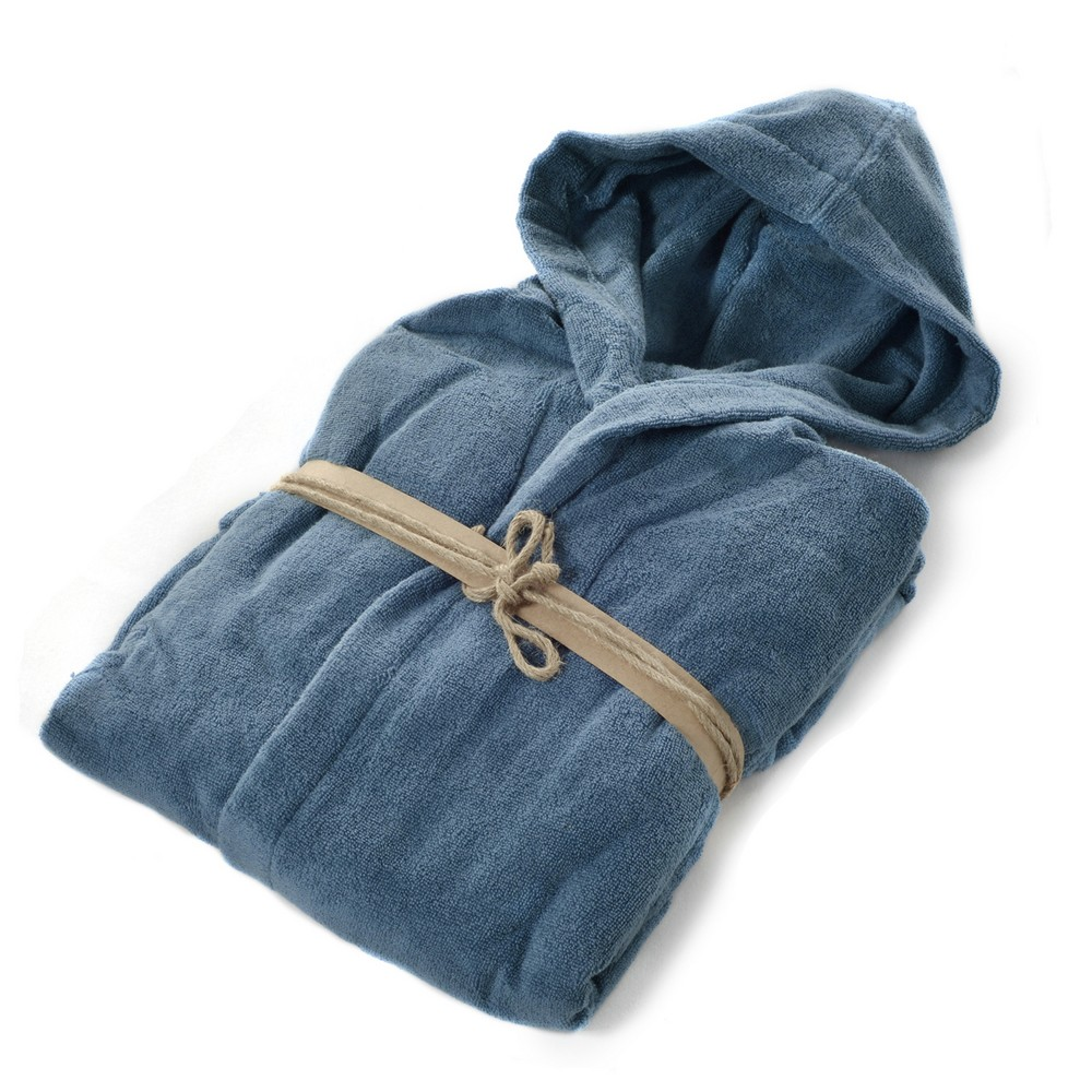 COCCOLA Hooded microcotton bathrobe  ATOLLO XL