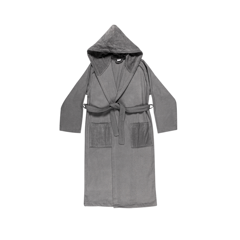 VELOUR Bathrobe L - grey