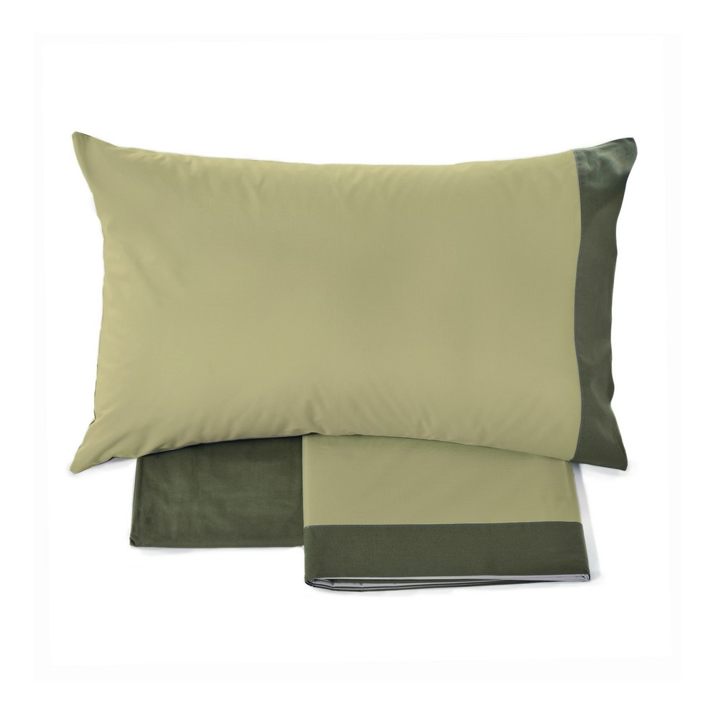 Musk Double Sheet Set 1 Piazza Green Fazzini Home