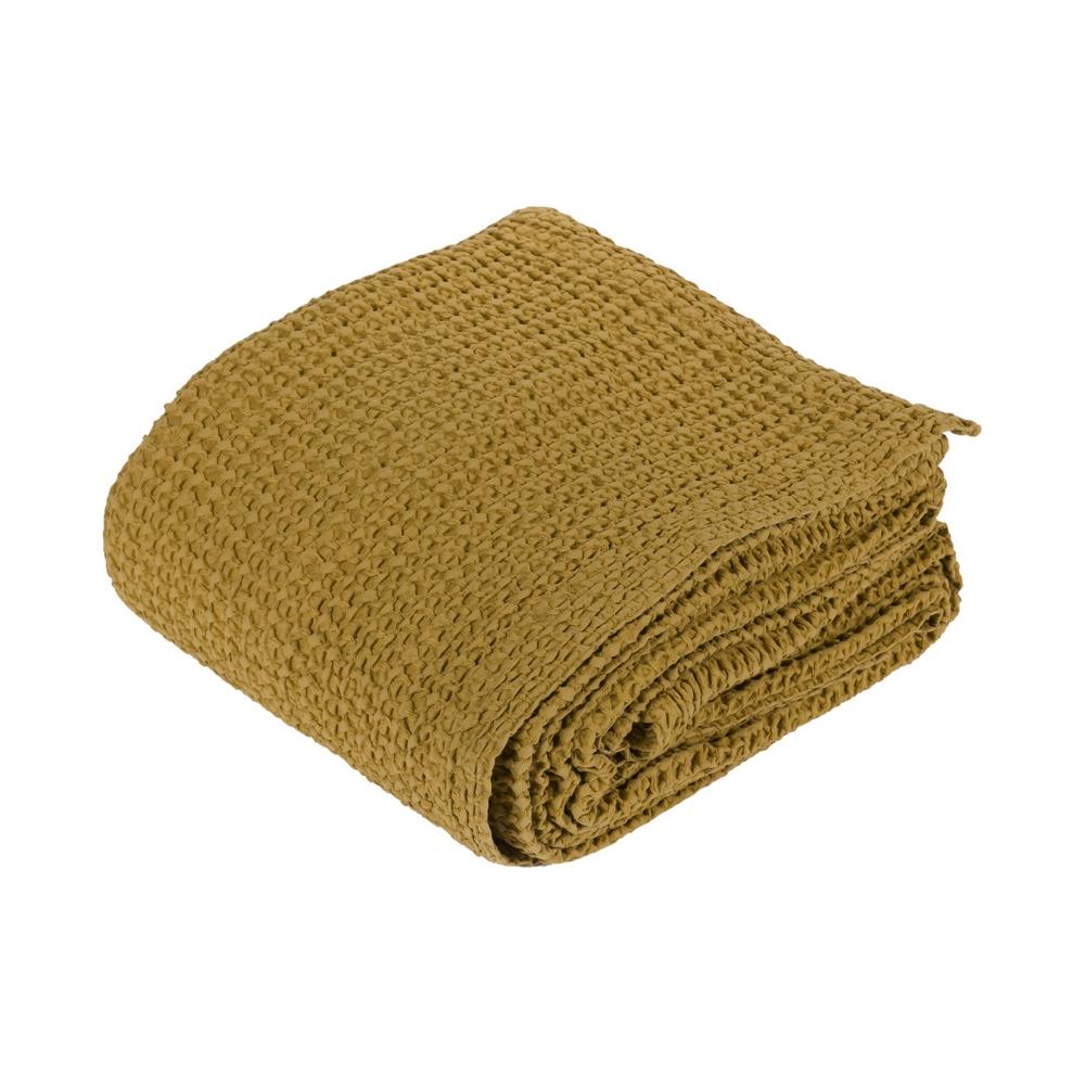 NETTARE bedspread - 260x240 -ocher
